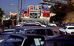Neil Young billboard for record Rust Never Sleeps on the Sunset Strip in Los Angeles circa 1979