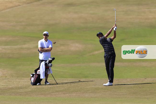 Gunn Yang (AM)(KOR) plays his 2nd shot on the 6th hole during Friday's Round 2 of the 2015 U.S. Open 115th National Championship held at Chambers Bay, Seattle, Washington, USA. 6/20/2015.<br /> Picture: Golffile | Eoin Clarke<br /> <br /> <br /> <br /> <br /> All photo usage must carry mandatory copyright credit (&copy; Golffile | Eoin Clarke)