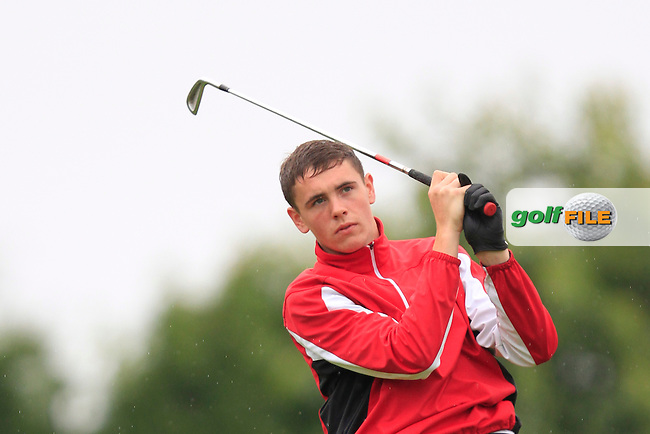Rob Brazill (Naas) on the 6th tee during Round 3 of the Irish Boys Amateur Open Championship at Thurles Golf Club on Thursday 26th June 2014.<br /> Picture:  Thos Caffrey / www.golffile.ie