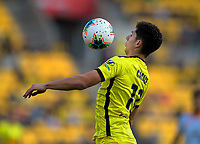 Phoenix's Liberato Cacace controls the ball during the A-League football match between Wellington Phoenix and Brisbane Roar at Westpac Stadium in Wellington, New Zealand on Saturday, 23 November 2019. Photo: Dave Lintott / lintottphoto.co.nz