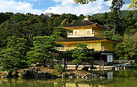The Golden Pavilion temple stands in Kyoto, Japan, on October 5, 2010. Photo Lucas Schifres/Pictobank