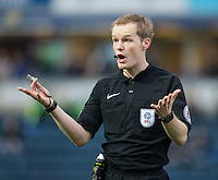 Referee Gavin Ward during the Sky Bet League 2 match between Wycombe Wanderers and Crawley Town at Adams Park, High Wycombe, England on 25 February 2017. Photo by Andy Rowland / PRiME Media Images.