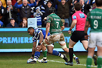 Semesa Rokoduguni of Bath Rugby scores a try in the first half. Gallagher Premiership match, between Bath Rugby and Newcastle Falcons on February 16, 2019 at the Recreation Ground in Bath, England. Photo by: Patrick Khachfe / Onside Images