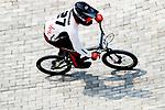 Jukia Yoshimura (JPN), <br /> AUGUST 25, 2018 - Cycling - BMX : <br /> Men's BMX Race Race Seeding Run <br /> at Pulo Mas International BMX Center <br /> during the 2018 Jakarta Palembang Asian Games <br /> in Jakarta, Indonesia. <br /> (Photo by Naoki Morita/AFLO SPORT)