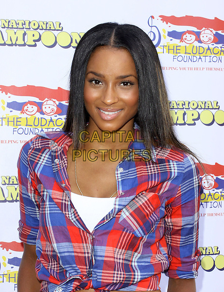 CIARA (Ciara Princess Harris).Ludacris Foundation Summer Splash held A Private Residencel, Malibu, California, USA..August 22nd, 2009.half length plaid tartan top red blue .CAP/ADM/KB.©Kevan Brooks/AdMedia/Capital Pictures.