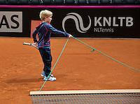 Februari 04, 2015, Apeldoorn, Omnisport, Fed Cup, Netherlands-Slovakia, Training Dutch team, meet and greet<br /> Photo: Tennisimages/Henk Koster