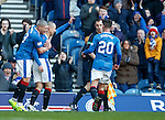 Kenny Miller congratulated by Martyn Waghorn