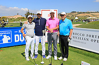 Team Bjerregaard during the ProAm ahead of the Rocco Forte Sicilian Open played at Verdura Resort, Agrigento, Sicily, Italy 09/05/2018.<br /> Picture: Golffile | Phil Inglis<br /> <br /> <br /> All photo usage must carry mandatory copyright credit (&copy; Golffile | Phil Inglis)
