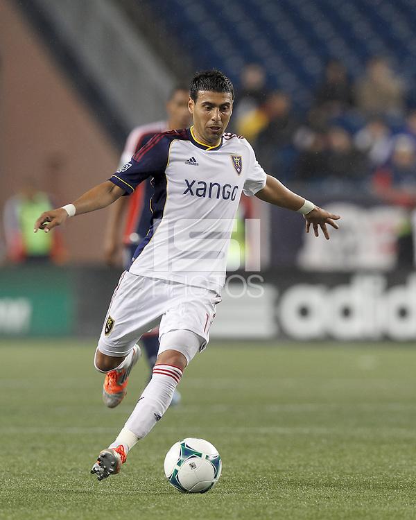 Real Salt Lake midfielder Javier Morales (11) passes the ball.