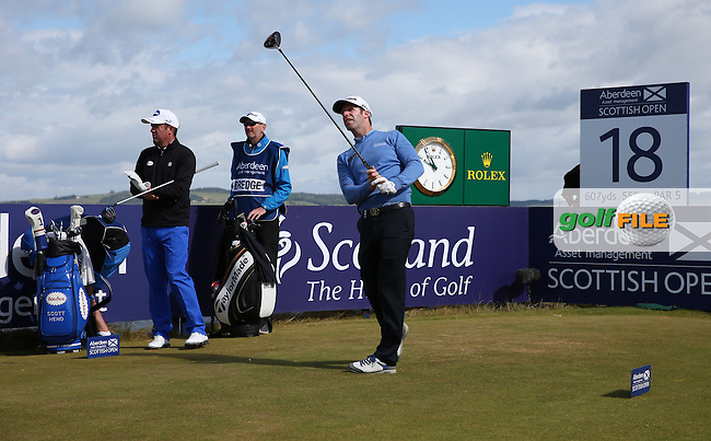 Bradley Dredge (WAL) leads the field at -4 during the First Round of the 2016 Aberdeen Asset Management Scottish Open, played at Castle Stuart Golf Club, Inverness, Scotland. 07/07/2016. Picture: David Lloyd | Golffile.<br /> <br /> All photos usage must carry mandatory copyright credit (&copy; Golffile | David Lloyd)