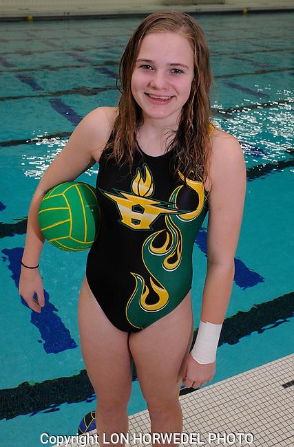 Huron High School girl's water polo team.Huron High School girl's water polo team.