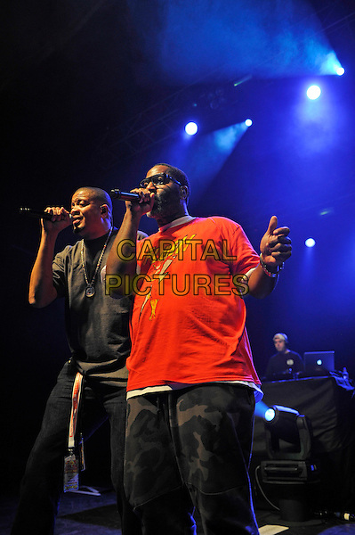 LONDON, ENGLAND - SEPTEMBER 10: Chali 2na (Charles Stewart) and Zaakir (Courtenay Henderson) of 'Jurassic 5' performing at The Forum on September 10, 2015 in London, England.<br /> CAP/MAR<br /> &copy; Martin Harris/Capital Pictures