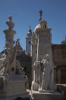4700 ornate tombs fill the Recoleta Cemetery in Buenos Aires.