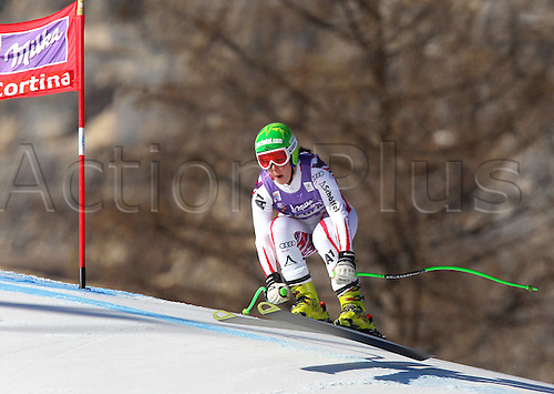13.01.2012 Cortina D Ampezzo, Italy. The Ski Alpine FIS World Cup Downhill Training for women Picture shows Stefanie Moser AUT