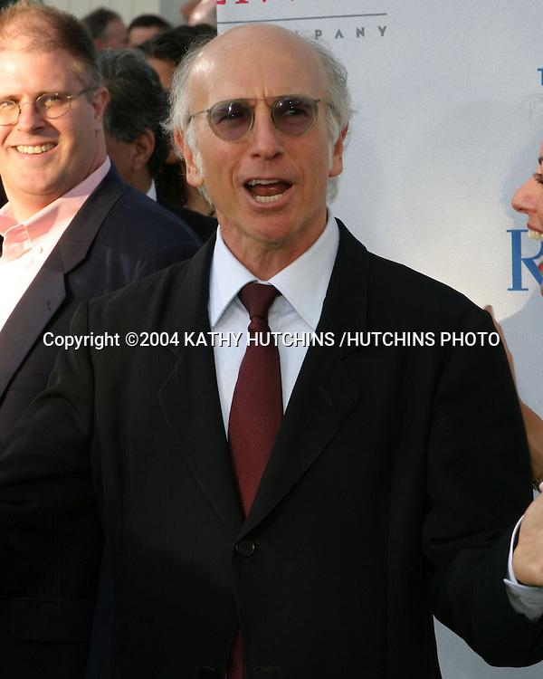 """©2004 KATHY HUTCHINS /HUTCHINS PHOTO.NRDC (NATURAL RESOU5RCES DEFENSE COUNCIL) """"EARTH TO LA"""".WESTWOOD, CA.MAY 6, 2004..LARRY DAVID."""