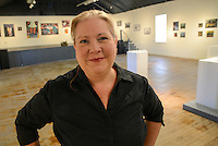 Colleen Pritchard of the New Hope Arts Center poses for a photo in the gallery Saturday June 13, 2015 in New Hope, Pennsylvania.  (Photo by William Thomas Cain/Cain Images)