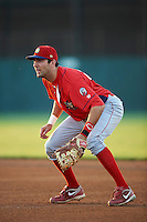 Williamsport Crosscutters first baseman Chris Serritella #26 during a NY-Penn League game against the Batavia Muckdogs at Dwyer Stadium on August 24, 2012 in Batavia, New York.  Williamsport defeated Batavia 7-4.  (Mike Janes/Four Seam Images)