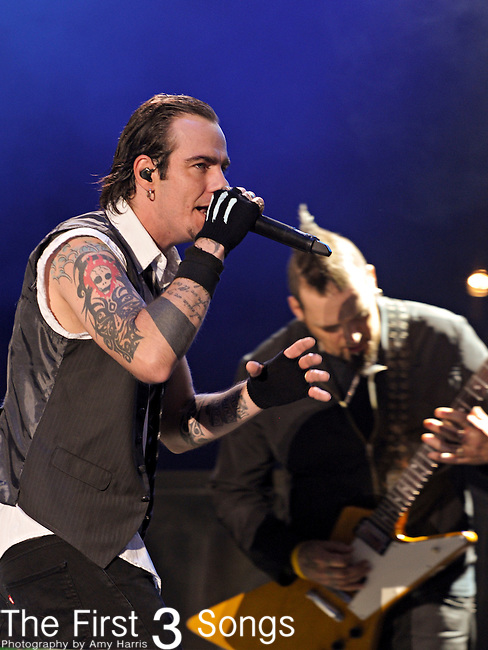 Adam Gontier of Three Days Grace performs during day one of the 2011 Rock Fest on July 14, 2011 in Cadott, Wisconsin.