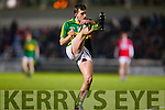 Jack Savage Kerry in action against Cork in the U-21 Munster Football Final at Austin Stack Park, Tralee on Thursday evening.