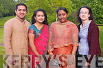 BOLLYWOOD: Enjoying the Indian Film Festival of Ireland 2011 at Siamsa Tire, Tralee on Friday l-r: Jomin Jose, Dhanya Jose, Mary Kutty and Veronika Szentes.