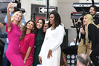 NEW YORK, NY - OCTOBER 11:  Karlie Kloss, Zendaya, Freida Pinto, Michelle Obama and Meghan Trainor on NBC's Today promoting and celebrating International Day of the Girl in New York City on October 11, 2018. Credit: John Palmer/MediaPunch