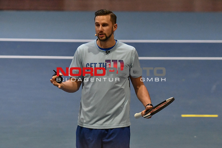 05.01.2018, Estrel Congress Center, Berlin, GER,  Internationaler DTB Tenniskongress 2019 <br /> <br /> im Bild Philipp Born spricht zur Trainingsspraxis / Update Training im Leistungstennis 2019<br /> <br /> Foto © nordphoto/Mauelshagen