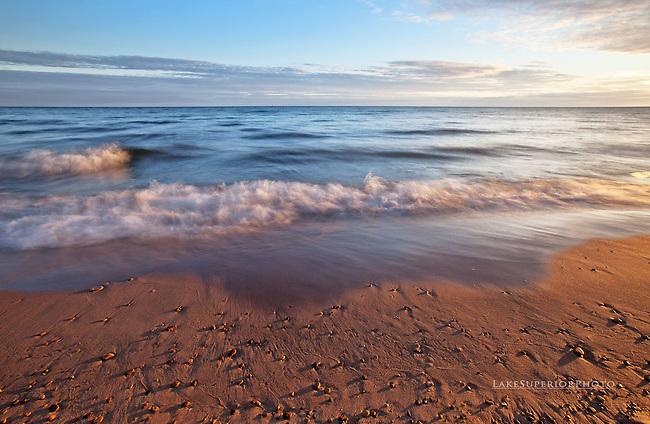 Dawn, Beach Glass, patrol, Lake Superior
