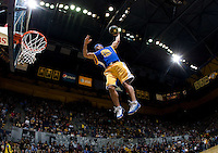 Warriors High Flying Dunkers perform at halftime at Haas Pavilion in Berkeley, California on January 8th, 2013.  Stanford defeated California, 62-53.