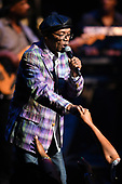 FORT LAUDERDALE FL - AUGUST 06: Beres Hammond performs at The Broward Center on August 6, 2017 in Fort Lauderdale, Florida. : Credit Larry Marano © 2017