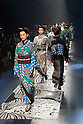 Models on the runway during the Jotaro Saito kimono 2016 Autumn Winter fashion show at the Mercedes-Benz Fashion Week Tokyo 2016 A/W on  March 16, 2016, Tokyo, Japan. (Photo by Michael Steinebach/AFLO)