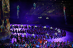 LONDON, ENGLAND - JULY 27:  General view of the performers during the Opening Ceremonies on Olympics Opening Day as part of the London 2012 Olympic Games at the Lord's Cricket Ground on July 27, 2012 in London, England. (Photo by Donald Miralle)