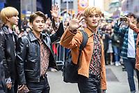 Nova York (EUA), 18/04/2019 - Celebridades / NCT 127 - Integrantes da banda sul-coreana NCT 127 é vista na região da Times Square em Nova York nesta quinta-feira, 18. (Foto: Vanessa Carvalho/Brazil Photo Press)