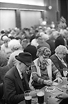 Coventry Working mens Club Saturday night after the Bingo evening entertainment. 1980s England.