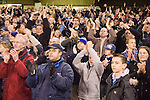 Sheffield United 1 Reading 1, 14/02/2006. Bramall Lane, Championship. Reading fans at the final whistle. Photo by Paul Thompson.