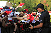 Phil Mickelson (USA) signing autographs after the first round at the WGC HSBC Champions, Sheshan Golf Club, Shanghai, China. 31/10/2019.<br /> Picture Fran Caffrey / Golffile.ie<br /> <br /> All photo usage must carry mandatory copyright credit (© Golffile | Fran Caffrey)