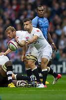 Danny Care of England passes during the QBE International between England and Fiji at Twickenham on Saturday 10th November 2012 (Photo by Rob Munro)