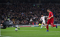 Son Heung-Min of Spurs scores the opening goal during the UEFA Champions League group match between Tottenham Hotspur and Bayern Munich at Wembley Stadium, London, England on 1 October 2019. Photo by Andy Rowland.