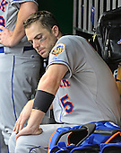 New York Mets third baseman David Wright (5) ponders his team's fortunes during the game against the Washington Nationals at Nationals Park in Washington, D.C. on Sunday, August 19, 2012.   The Nationals won 5 - 2..Credit: Ron Sachs / CNP.(RESTRICTION: NO New York or New Jersey Newspapers or newspapers within a 75 mile radius of New York City)