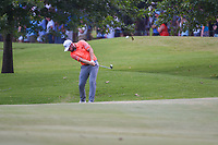 Tyrrell Hatton (ENG) hits his approach shot on 9 during round 4 of the WGC FedEx St. Jude Invitational, TPC Southwind, Memphis, Tennessee, USA. 7/28/2019.<br /> Picture Ken Murray / Golffile.ie<br /> <br /> All photo usage must carry mandatory copyright credit (© Golffile | Ken Murray)