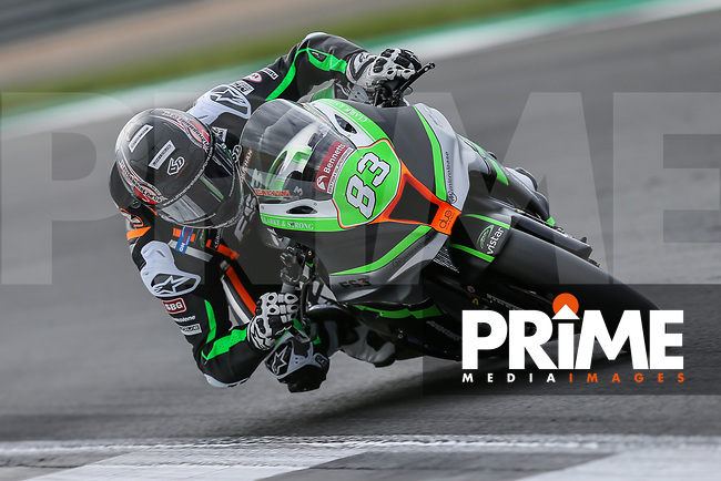 Danny BUCHAN (83) of the BSB FS-3 Racing Kawasaki race team during Free Practice 2 at Round 9 of the 2018 British Superbike Championship at Silverstone Circuit, Towcester, England on Friday 7 September 2018. Photo by David Horn.