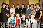 50TH:  Celebration were in full swing in the Grand Hotel, Tralee on Saturday night as Suzanne Boyle, celebrated her 50th Bitrthday with her family and friends. Seated l-r: Fiona Griffin, Suzanne Boyle, Gina O'Brien and Marian O'Reilly.Back l-r: Geraldine Sheehy, Helen Rusk, Norma Stack, Gorrett O'Connor, Ina Nolan, Breda Nolan, Nuala Finn and Lorraine West............. ....