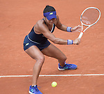 May 25,2016:   Heather Watson (GBR) loses to Svetlana Kuznetsova (RUS) 6-1, 6-3, at the Roland Garros being played at Stade Roland Garros in Paris, .  ©Leslie Billman/Tennisclix