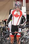 November 12 2011 - Guadalajara, Mexico:   Louis-Albert Corriveau-Jolin before his road race at the 2011 Parapan American Games.  Photos: Matthew Murnaghan/Canadian Paralympic Committee