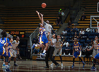 Reshanda Gray of California tips off during the game against Bakersfield at Haas Pavilion in Berkeley, California on December 15th, 2013.  California defeated Bakersfield Roadrunners, 70-51.