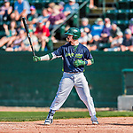 4 September 2017: Vermont Lake Monsters outfielder Greg Deichmann at bat in the 6th inning during the first game of a double-header against the Tri-City ValleyCats at Centennial Field in Burlington, Vermont. The Lake Monsters split their games, falling 6-5 in the first, then winning the second 7-4, thus clinching the NY Penn League Stedler Division Championship. Mandatory Credit: Ed Wolfstein Photo *** RAW (NEF) Image File Available ***