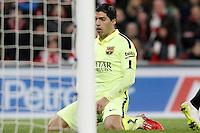 FC Barcelona's Luis Suarez dejected during La Liga match.February 8,2015. (ALTERPHOTOS/Acero) /NORTEphoto.com