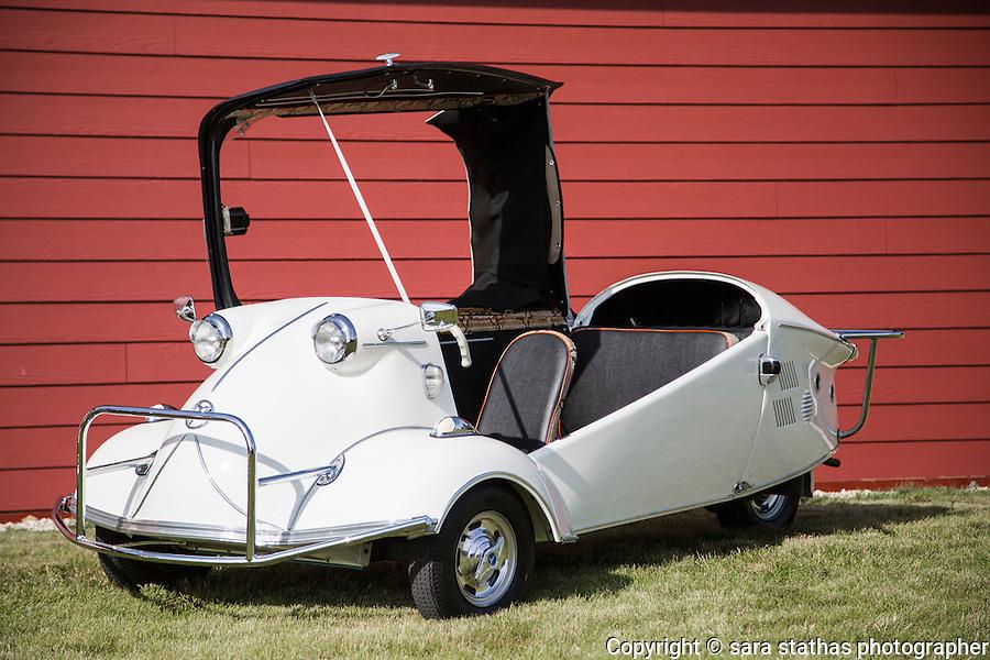 The 1957 Messerschmitt KR 201, owned by Jim Garbo of Franksville, Wisconsin.