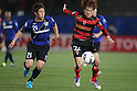 (L to R) Akira Kaji (Gamba), Byeong Jun Noh (Steelers), .MAY 6, 2012 - Football : AFC Champions League 2012 Qualifying Round 1st match between Gamba Osaka 0-3 FC Pohang Steelers at Expo 70 Stadium, in Osaka, Japan. (Photo by Akihiro Sugimoto/AFLO SPORT) [1080]
