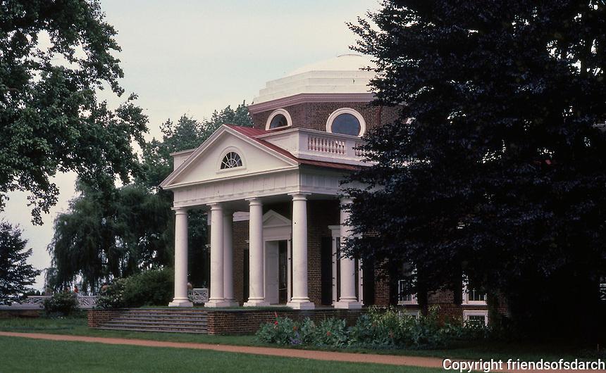 Monticello, a Neo-Classical design by Thomas Jefferson. Charlottesvile, VA.
