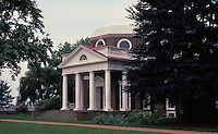 Monticello, a Neo-Classical design by Thomas Jefferson. Charlottesvile, VA.